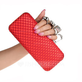 Fashionable Silk Clutches/Top Handle Bags (012183625)