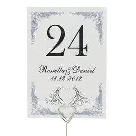 Personalized Gorgeous Pearl Paper Table Number Cards (Set of 10) (118032269)