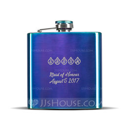 Groomsmen Gifts - Personalized Stainless Steel Flask (258176292)