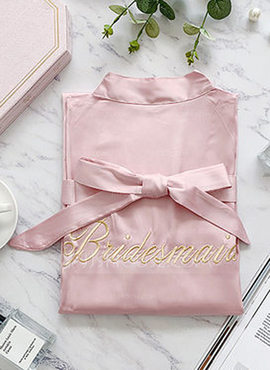 Polyester Bridesmaid Embroidered Robes (248198490)