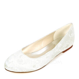 Women's Silk Like Satin Flat Heel Flats With Others (047170367)