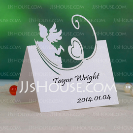 Angel and Heart Pearl Paper Place Cards (set of 12) (131037437)