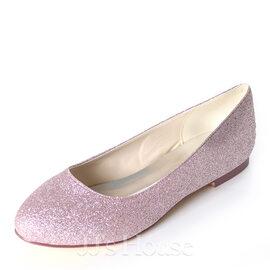 Women's Sparkling Glitter Flat Heel Flats (047195488)