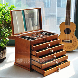 Bride Gifts - Vintage Wooden Jewelry Box (255183257)