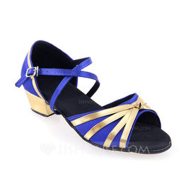 Women's Leatherette Heels Latin With Buckle Dance Shoes (053103210)