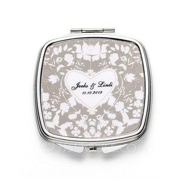 Bride Gifts - Personalized Beautiful Stainless Steel Compact Mirror (255176327)