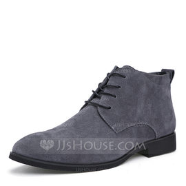 Men's Real Leather Lace-up Chukka Casual Men's Boots (261216563)