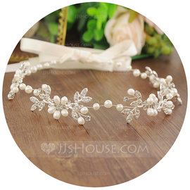 Ladies Glamourous Imitation Pearls/Beads Headbands (Sold in single piece) (042175962)