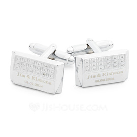 Personalized With Gift Box Stainless Steel Cufflinks (Set of 2) (118031910)
