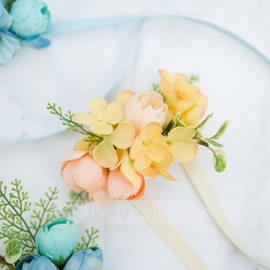 Charming Free-Form Satin Wrist Corsage -