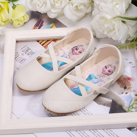 Girl's Round Toe Closed Toe Microfiber Leather Flats Sneakers & Athletic Flower Girl Shoes (207204383)