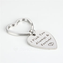 Simple/Elegant Heart Shaped Stainless Steel Keychains (051189671)