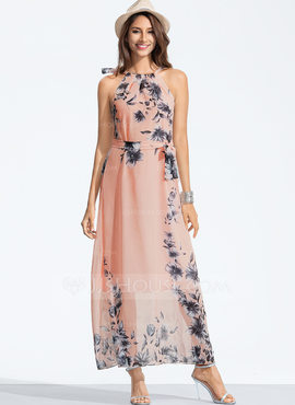 Polyester With Print Maxi Dress (199173868)