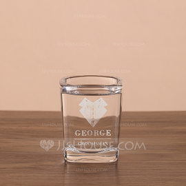 Groomsmen Gifts - Personalized Modern Glass Whisky Glass (258184534)