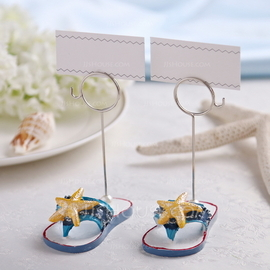 Starfish or Fish Design Resin Place Card Holders (Set of 2 pieces)