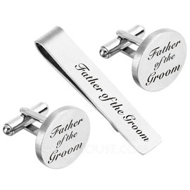 Groom Gifts - Modern Alloy Cufflinks Tie Clip (257188736)