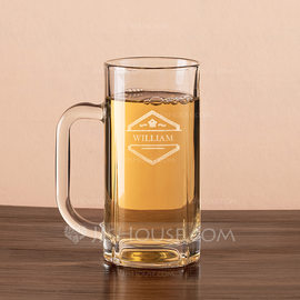Groomsmen Gifts - Personalized Classic Glass Beer Mug (258184547)