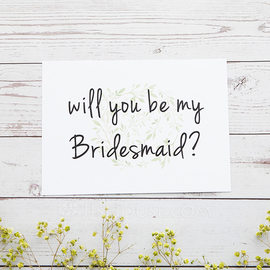 Bridesmaid Gifts - Classic Elegant Paper Wedding Day Card (256176215)