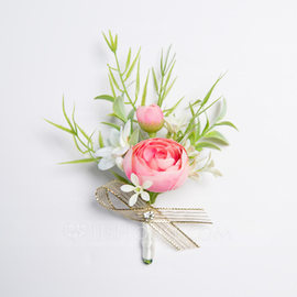 Pretty Free-Form Fabric Boutonniere (Sold in a single piece) - (123177942)