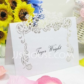 Lovely Rose vine Pearl Paper Place Cards (set of 12) (131037456)