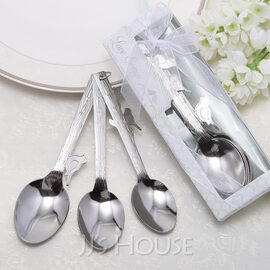 """Love Songs"" Stainless Steel Spoon Set With Ribbons (050025902)"