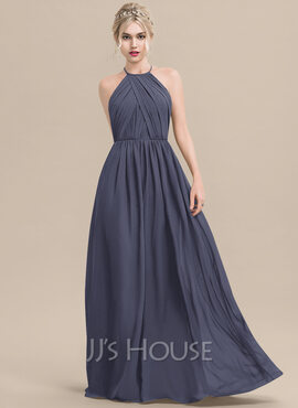Round Neck Sleeveless Maxi Dresses (293250411)