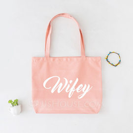 Bride Gifts - Elegant Cotton Tote Bag (255176373)