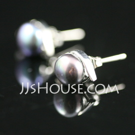 Elegant Alloy With Pearl Women's Earrings (011027701)