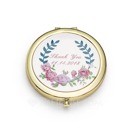 Bridesmaid Gifts - Personalized Stainless Steel Compact Mirror (256184472)