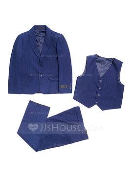Boys 3 Pieces Solid Ring Bearer Suits /Page Boy Suits With Jacket Vest Pants (287198589)