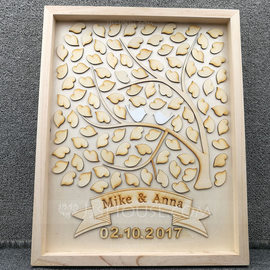Drop Heart Wood Guestbook (101188109)
