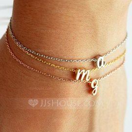 Bridesmaid Gifts - Personalized Solid Color Alloy Bracelet (256198344)