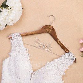 Bride Gifts - Personalized Special Delicate Wooden Hanger (255215605)