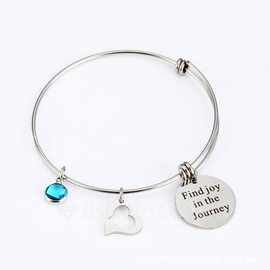 Personalized Unisex Unique Stainless Steel Engraved Bracelets Bracelets For Bridesmaid/For Friends/For Couple (011208303)