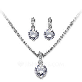 Ladies' Elegant Zircon Jewelry Sets For Bride/For Bridesmaid/For Friends (011199611)