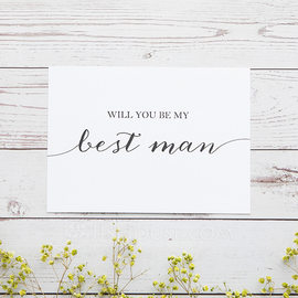 Groomsmen Gifts - Classic Card Paper Wedding Day Card (258176312)