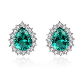 Ladies' Classic Zircon Cubic Zirconia Earrings For Bride/For Bridesmaid/For Mother (011208465)