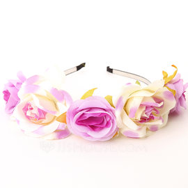 Lovely Fabric Flower Girl's Headwear/Flowers & Feathers/Headbands (042089637)