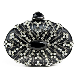 Charming PU With Acrylic Jewels/Czech Stones Clutches (012051301)
