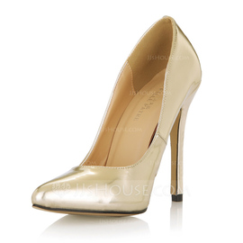 Patent Leather Stiletto Heel Pumps Closed Toe shoes (085053019)