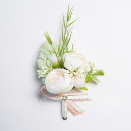 Charming Free-Form Satin Boutonniere (Sold in a single piece) -