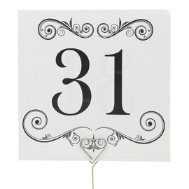 Artistic Pearl Paper Table Number Cards (Set of 10) (118032278)