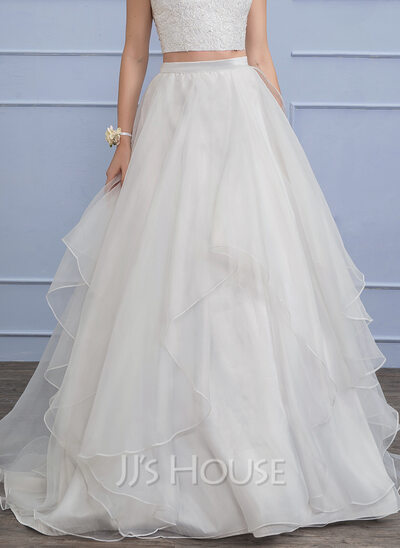 Separates Sweep Train Organza Wedding Skirt
