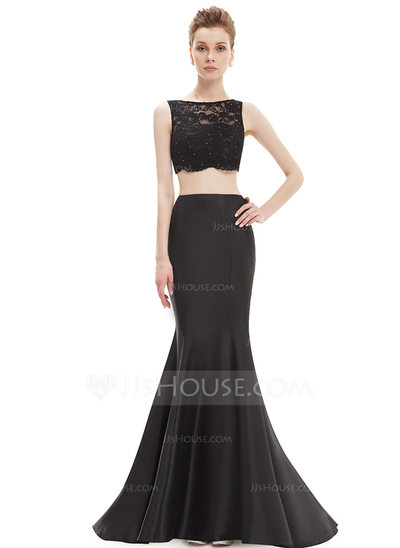 Lace/Satin/Tulle With Lace/Sequins/Two Pieces Maxi Dress