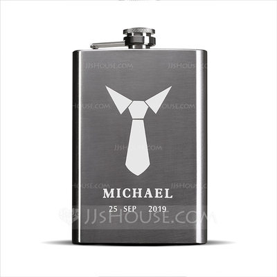 Groomsmen Gifts - Personalized Elegant Stainless Steel Flask