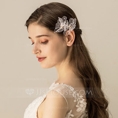 Ladies Beautiful Voile Combs & Barrettes (Sold in single piece)