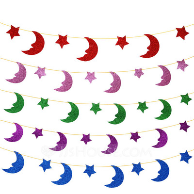 """Moon and Star"" Sponge Banner (8 Pieces)"