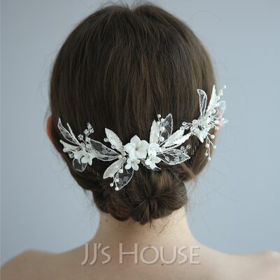 Ladies Beautiful Alloy/Lace/Soft ceramics Combs & Barrettes With Rhinestone/Crystal