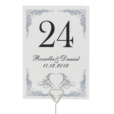 Personalized Gorgeous Pearl Paper Table Number Cards (Set of 10)