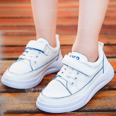 Unisex Round Toe Closed Toe Leatherette Flat Heel Flats Sneakers & Athletic With Velcro Lace-up